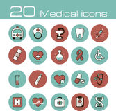 Medical vector icons set Stock Images