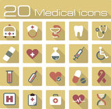 Medical vector icons set. The modern medical vector icons set eps 10 stock illustration