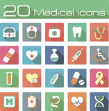 Medical vector icons set. The modern medical vector icons set eps 10 vector illustration