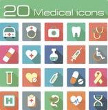 Medical vector icons set Stock Photos