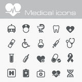 Medical vector icons set. The modern medical vector icons set eps 10 royalty free illustration