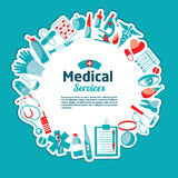 Medical vector illustration of tools. Stock Photo