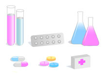 Medical vector illustrations Royalty Free Stock Image