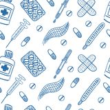 Medical vector seamless pattern. royalty free stock photography