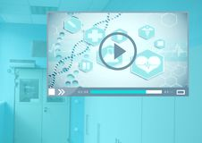 Medical Video Player App Interface Royalty Free Stock Photography