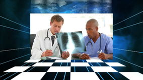 Medical videos with a checkerboard Stock Image