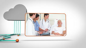 Medical videos with a grey cloud Stock Images