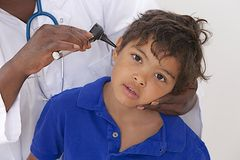 Medical visit - young boy- Stock Images