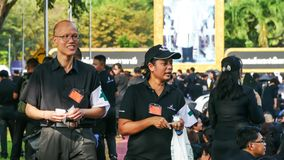 Medical volunteer in The Royal Cremation for His Majesty the lat royalty free stock images