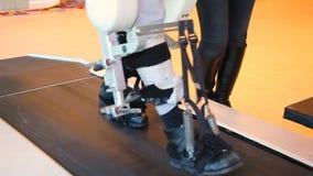 Medical walking robot. LOKOMAT - walking robot - Stock Footage. Medical walking robot. LOKOMAT - walking robot stock video footage