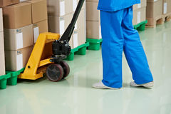 Medical warehouse works Royalty Free Stock Photos