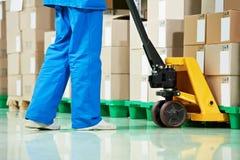 Medical warehouse works Royalty Free Stock Image