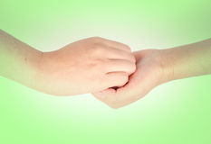 Medical wash hand gesture series Stock Images