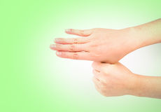 Medical wash hand gesture series.  Stock Image