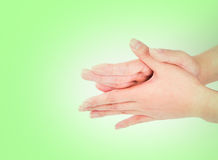 Medical wash hand gesture series.  Royalty Free Stock Photo