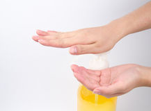 Medical wash hand gesture series.  Royalty Free Stock Image