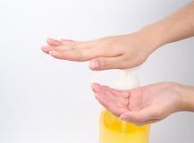 Medical wash hand gesture series Royalty Free Stock Image
