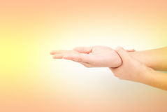 Medical wash hand gesture series Royalty Free Stock Photos