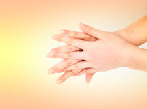 Medical wash hand gesture series Stock Photography