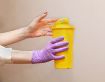 Medical waste container Stock Images