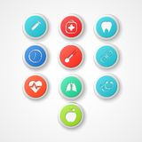Medical  web icon Royalty Free Stock Images