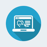 Medical website page. Flat and isolated vector eps illustration icon, with minimal design and long shadow Royalty Free Stock Photography