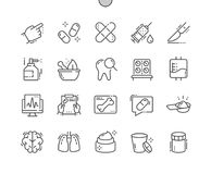 Medical Well-crafted Pixel Perfect Vector Thin Line Icons 30 2x Grid for Web Graphics and Apps. Simple Minimal Pictogram Royalty Free Stock Photos