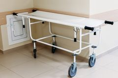 Medical wheelchair in the hospital royalty free stock photos