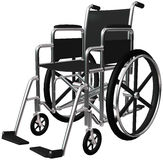 Medical Wheelchair Illustration Isolated Stock Photography