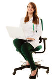 Medical. Woman doctor working on computer laptop Royalty Free Stock Photos