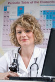 Medical woman scientist Royalty Free Stock Photography