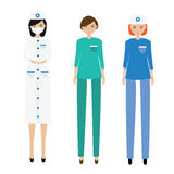 Medical women team. Nurse, paramedic, doctor Royalty Free Stock Photography
