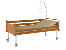 Medical wooden bed isolated Stock Photography