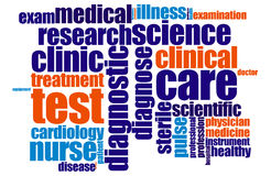 Medical word cloud Royalty Free Stock Image