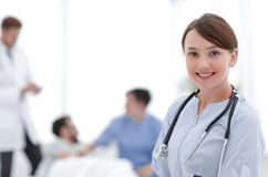 Medical worker in medical Center. Photo with copy space stock photo