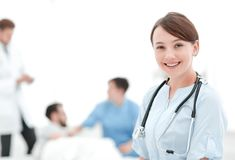 Medical worker in medical Center stock photos