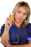 Medical Worker and Medicine Stock Image