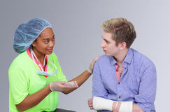 Medical worker with patient Stock Photography