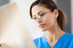 Medical worker x-ray Stock Photo