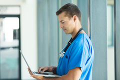 Medical worker working Royalty Free Stock Photo