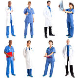 Medical workers. Collection of full length portraits of medical workers Stock Image
