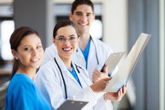 Medical workers. Group of medical workers working together Stock Photo