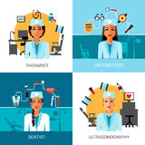 Medical Workers Concept Set Royalty Free Stock Photo