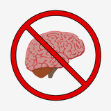 Medically accurate illustration of the brain Stock Image