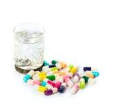 Medicals en alcohol royalty-vrije stock foto