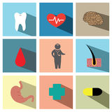 Medicals icon set illustration eps10 Stock Image