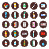 Medicament. Set of icons. Stock Photography