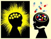 Medicamentação da epilepsia Foto de Stock Royalty Free