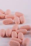 Medicamentação em um fundo branco. fotografia de stock royalty free