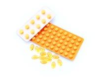 Medicamentação no branco foto de stock